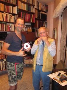 Toevallige ontmoeting in Italië met als gevolg een leuke avond muziek maken.